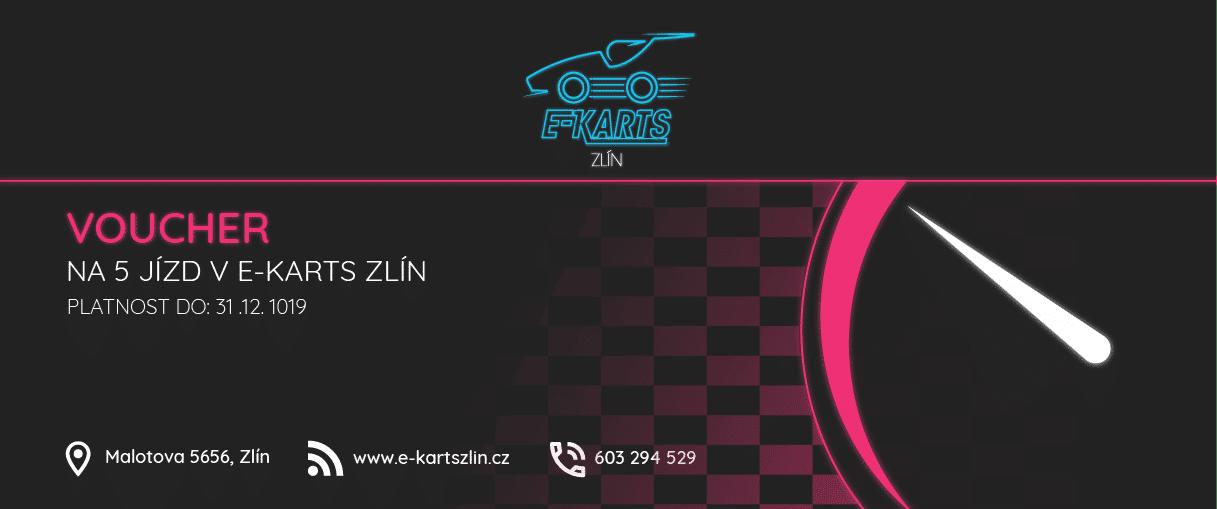 www.e-kartszlin.cz - VOUCHER na 5 jízd