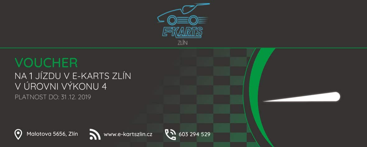 www.e-kartszlin.cz - Voucher na 1 jízdu v úrovni výkonu 4