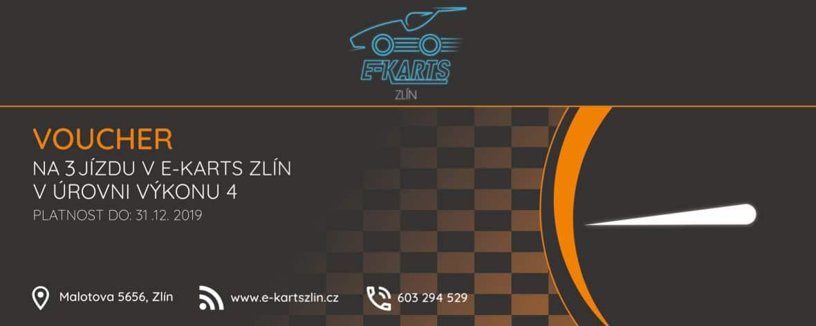 www.e-kartszlin.cz - Voucher na tři jízdy v úrovni výkonu 4