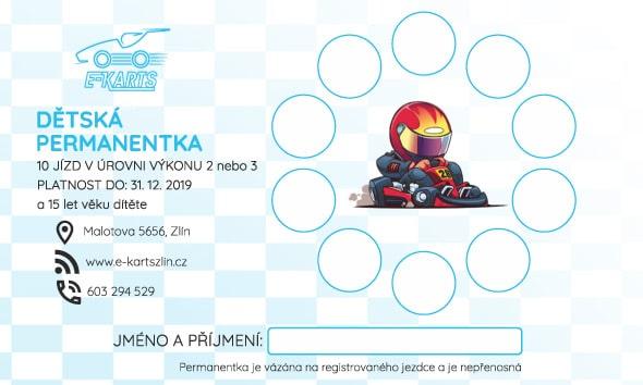 www.e-kartszlin.cz - DĚTSKÁ PERMANENTKA 10 jízd v úrovni výkonu 2 nebo 3