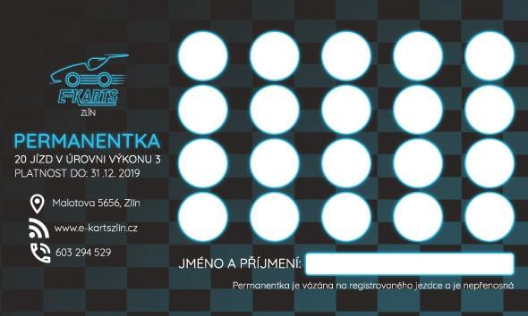 www.e-kartszlin.cz - PERMANENTKA 20 jízd v úrovni výkonu 3
