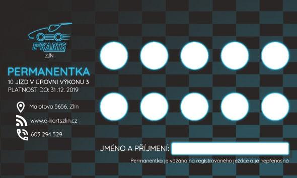 www.e-kartszlin.cz - PERMANENTKA 10 jízd v úrovni výkonu 3