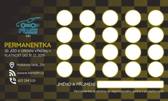 www.e-kartszlin.cz - PERMANENTKA 20 jízd v úrovni výkonu 4