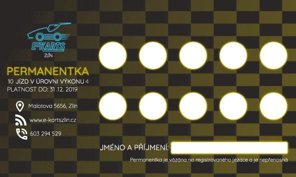 www.e-kartszlin.cz - PERMANENTKA 10 jízd v úrovni výkonu 4