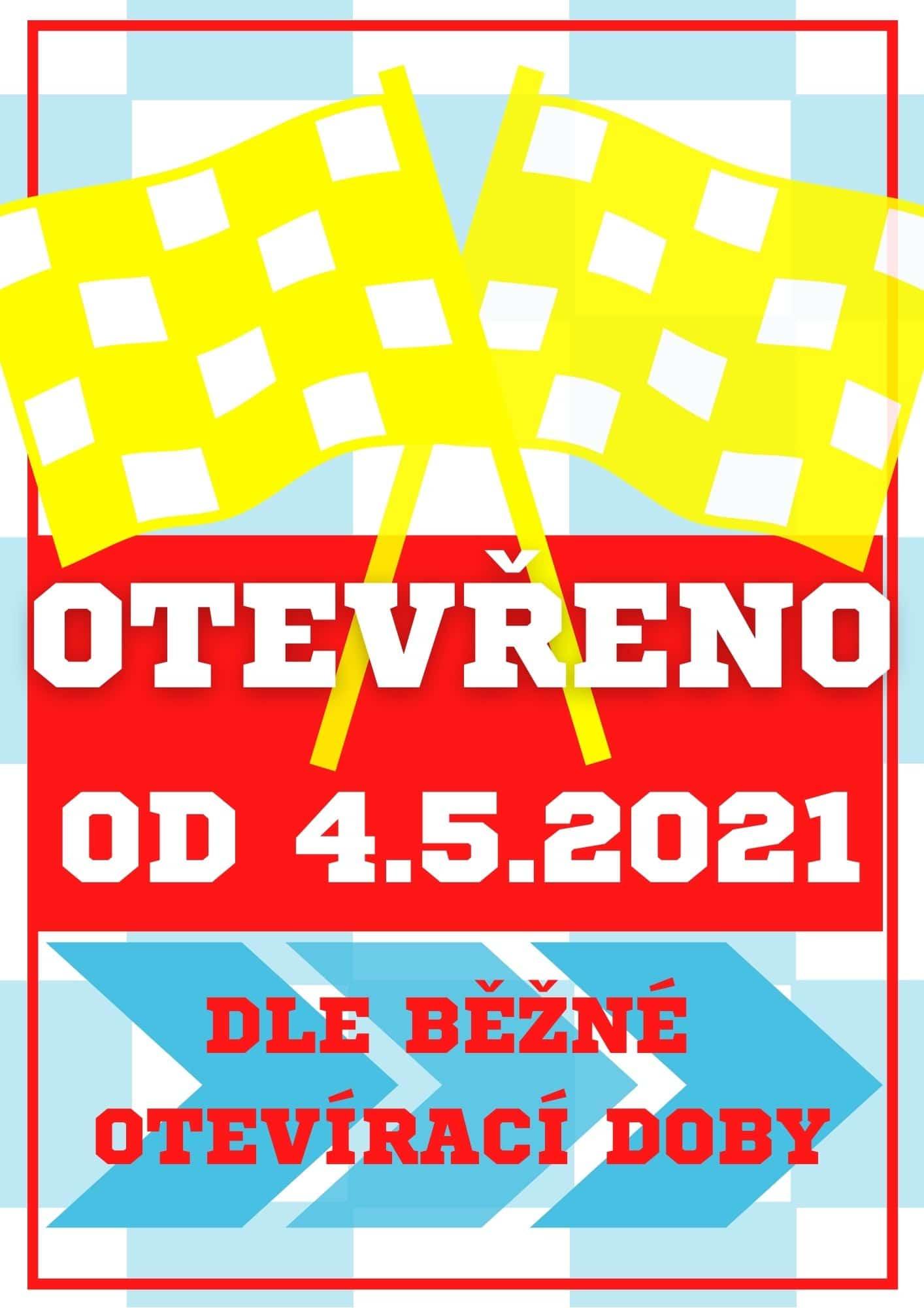 Otevřeno od 4.5.2021 dle běžné otevírací doby